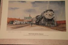 "Chicago Burlington & Quincy Railroad    CBQRR  Limited Edition Print  17"" X 11"""