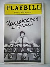 ROWAN ATKINSON AT THE ATKINSON Playbill OPENING NIGHT NYC 1986