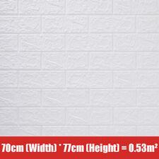10Pcs 77cm Auto-adesiva Wall Stickers Papel De Parede De Espuma Impermeável Faça você mesmo Home Decor