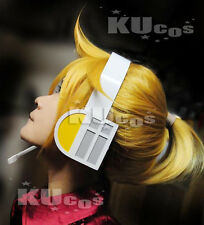 Kagamine Rin Len VOCALOID Golden Blonde Cosplay Wig WITHOUT the Earphone + net