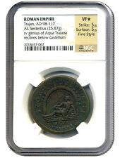 AD 98-117 Trajan AE Sestertius NGC VF * Star *(Ancient Roman)
