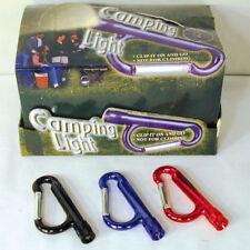 6 LED LIGHT CARABEANER KEY CHAIN carabiner flashlight clip camping light novelty