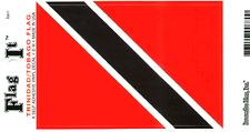 TRINIDAD-TOBAGO FLAG LAMINATED CAR SELF ADHESIVE VINYL DECAL STICKER NEW