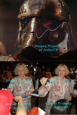 CRACKED HELMET! Gwendoline Christie Signed Star Wars 8x10 Photo Proof COA Phasma