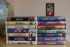 Lot of 27 Disney and Children's VHS movies in Clamshell cases