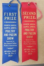 1939 Fourth Annual Santa Anita Poultry and Pigeon Show One Lot