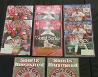 SPORTS ILLUSTRATED LOT OF 8 - BOSTON RED SOX 2004 WORLD SERIES SEASON ISSUES