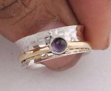 Amethyst Gemstone 925 Sterling Silver Spinner Ring Meditation Ring Jewelry ss894