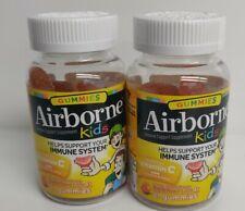 AIRBORNE Immune Support KIDS 42 Gummies Asst Fruit Flavors with ZINC VITAMIN C