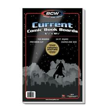 """1 Pack of 100 BCW Current Modern 6 3/4"""" Comic Book Backing Backer Boards"""