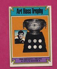 1974-75 OPC  # 246 BRUINS PHIL ESPOSITO TROPHY GOOD CARD  (INV# 9221)