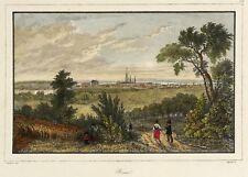 BONN - FERNANSICHT - Lemaitre - kolorierter Stahlstich 1838