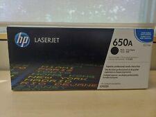 Genuine HP 650A Print Cartridge CE270A Black For LaserJet CP5525 New