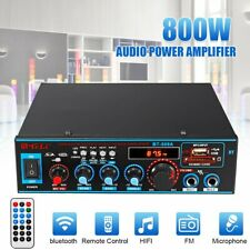 Bluetooth 800W Mini Power Audio Verstärker HiFi Bass AMP MP3 FM USB SD Auto Haus