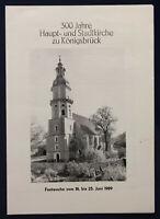 Original Prospekt 300 Jahre Haupt- und Stadtkirche zu Königsbrück 1989 sf