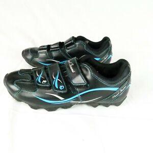Pearl Izumi Womens All Road II Cycling Shoes Black Blue  41 EU  9.5 US