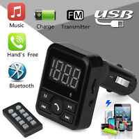 Car Kit MP3 Player Wireless Bluetooth LCD FM Transmitter Modulator USB SD Remote