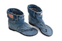 Dani.K Women's Classic Jeans Sandal Boot 100% Cotton Blue Wash (ALL SIZES)
