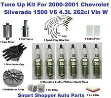 Tune Up Kit for 00-01 Chevrolet Silverado 1500 Spark Plug, Fuel, Air, Oil Filter