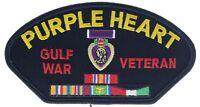 Purple Heart Gulf War Veteran 5 Inch Cap Hat Embroidered Patch F1D17G
