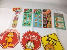 Lot of Garfield Stickers Bookmark Car Window Hangar Vintage Christmas Halloween