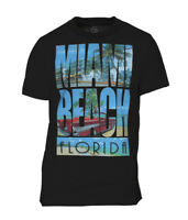 Mens Short-Sleeve Miami Beach Florida T-Shirt