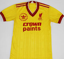 1986 LIVERPOOL ADIDAS chemise football tiers (taille lb)