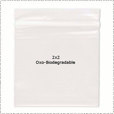 100 OXO-BIODEGRADABLE Plastic Zip Lock Ziplock Bags 2x2 ALL Clear 2 Mil - NEW