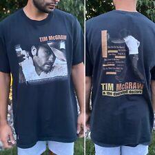 Vintage Tim McGraw T-Shirt Size Xl The Dancehall Doctors Tour Black Short Sleeve