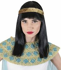 Straight Wig Gold Accessory Costume Shoulder Length Black Halloween Theme Party