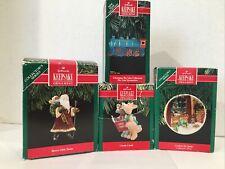Lot 4 Vintage Hallmark Keepsake Ornaments 1190-1992 Coyote Train Santa Plate