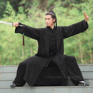 3 Pieces Wudang Taoist Robe Kung Fu Tai Chi Suit Martial Arts Wu Shu Uniform