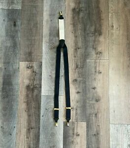TRAFALGAR EXQUISITE UPSCALE LUXURY MEN SUSPENDERS WITH POLISHED METAL SNAP CLIPS