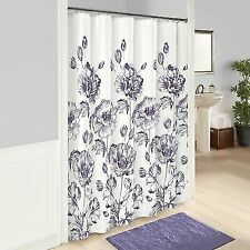 Marble Hill Jasmeen Shower Curtain 72x72 Inches Purple