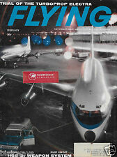 PAN AM BOEING 707 & DC-7 AT IDL AIRPORT AT NIGHT FLYING MAGAZINE COVER 1961