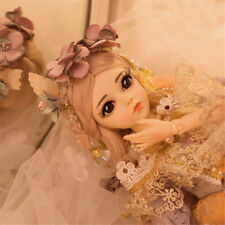 Kids Gift BJD Doll 1/3 Ball Jointed Girl Dolls with Face Makeup Wig Clothes Toy