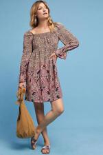 Anthropologie Milou Boho Print Dress Pink Paisley 14 16 Size XL NWT