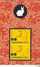 2011 Uganda Year of the Rabbit souvenir sheet MNH