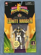 Mighty Morphin Power Rangers Auto Morphin Metallized White Ranger Bandai1995 MOC