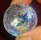 Marbles handmade art glass Joe Crisanti butterfly murrine dichro marble 1.4 in.