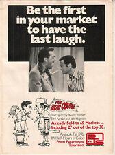 Tony Randall Jack Klugman 1976 Ad- The Odd Couple/have the last laugh