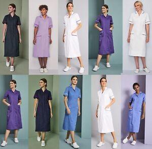Womens Dress Tunic Nurse Nurses Uniform Vet Medical Dental Therapist Healthcare