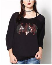Women's Harley Quinn Batman Sequin Fleece Top sz XL Officially Licensed DC Comic