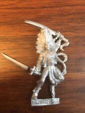 Warhammer Quest Wood Elf Wardancer champion / hero Metal Elves  OOP