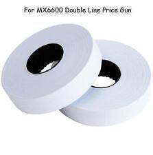 X15 For MX6600 Double Line Price Gun Sticker/ Label WHITE 500pcs/roll