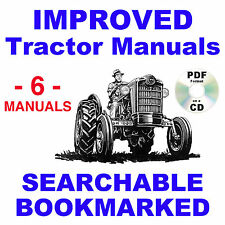 Ford 601 801 Tractor Service Parts Catalog Owners Manual 1953 64 6 Manuals Cd