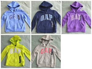 NWT $35 GAP Kids Girls Zip Up Hoodie Glitter Colored Sweater (XS, S, M, L, XL)