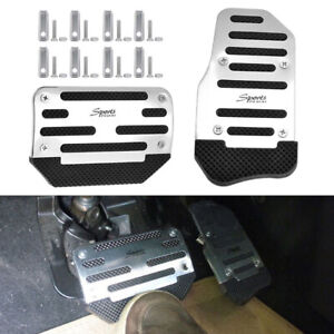 Universal Chrome Non-Slip Automatic Car Gas Brake Pedals Pad Cover Accessories