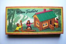 Ancienne boîte de jeu de construction Jeujura