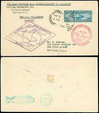 US SCOTT #C15, VF, Zeppelin on Cover to SOUTH AMERICA, SCV $575, MORE garyposner